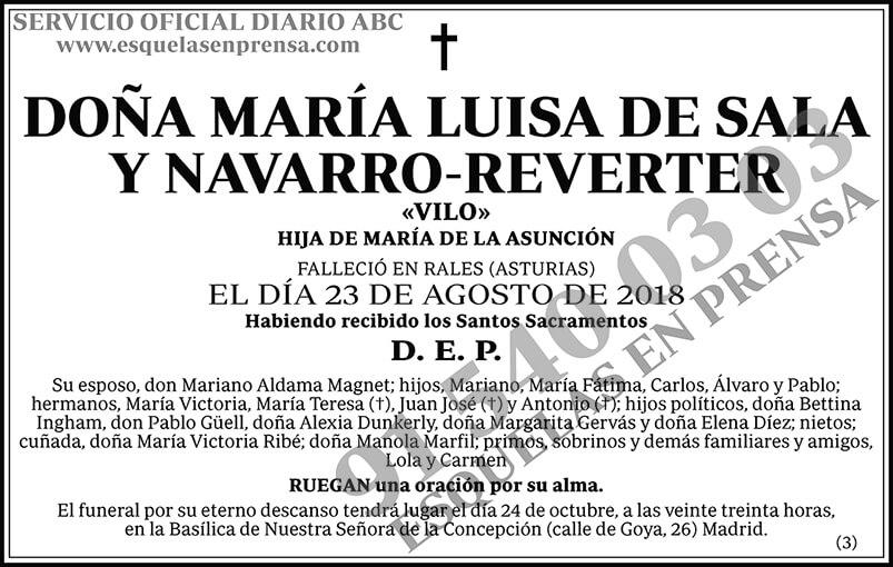 María Luisa de la Sala y Navarro-Reverter